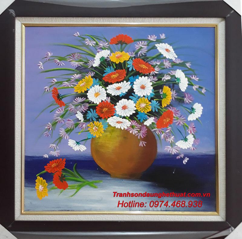tranh sơn dầu hoa đẹp mẫu 25