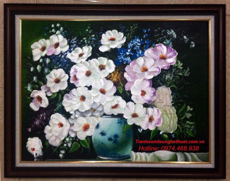 tranh sơn tranh sơn dầu hoa đẹp mẫu 37