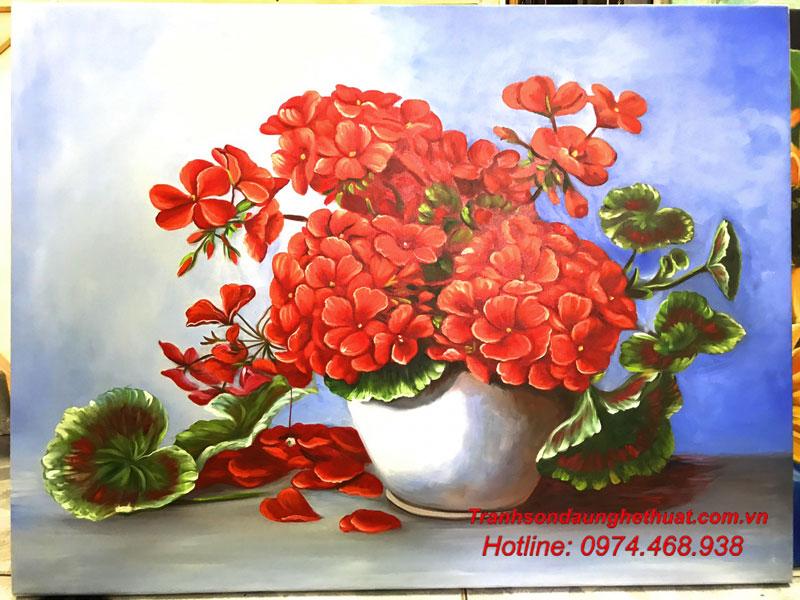 tranh sơn tranh sơn dầu hoa đẹp mẫu 42