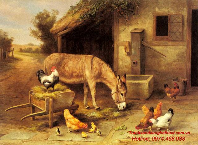 Tranh sơn dầu động vật
