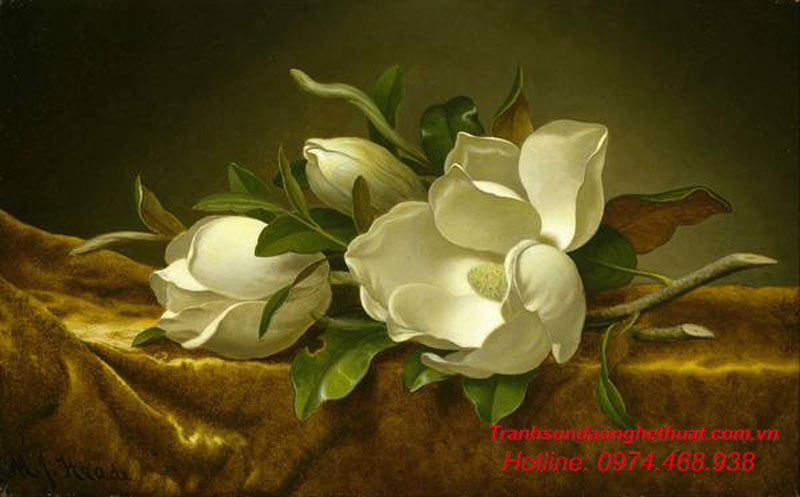 Tranh sơn dầu tĩnh vật đẹp
