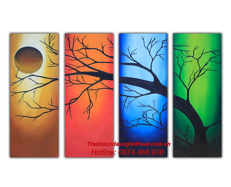 Tranh sơn dầu bốn mùa