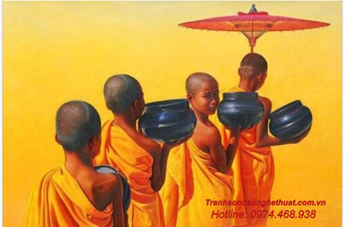 Tranh sơn dầu phật giáo