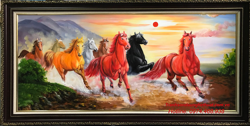 Tuổi nào treo được tranh ngựa