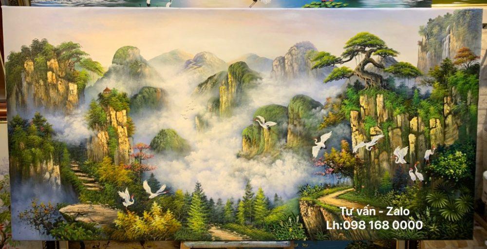 Tranh Sơn Dầu Phong Cảnh (Mẫu 56)
