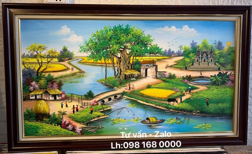 Tranh Sơn Dầu Đồng Quê (Mẫu 91)